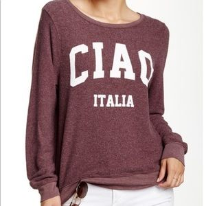 Wildfox Ciao Italia Pullover